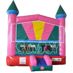 Inflatable Jumping Casle Moon Bounce With Basketball Hoop For Sale