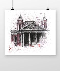 Ivan Vazov National Theatre Sofia by coffeeAFTEReight on Etsy National Theatre, Painting, Etsy, Art, Art Background, Painting Art, Paintings, Kunst, Drawings