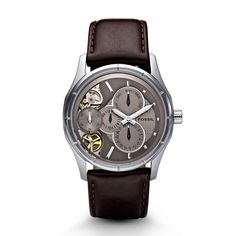 and this is why i am a big fan of fossil classic just enough mechanical twist brown leather watch fossil watches mensleather