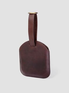 Jeanette Leather Clutch Aubergine - Bartleby Objects
