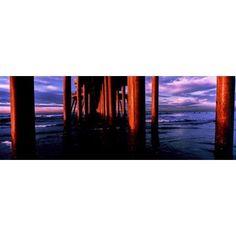 Huntington Beach Pier on Huntington Beach California USA Canvas Art - Panoramic Images (13 x 36)