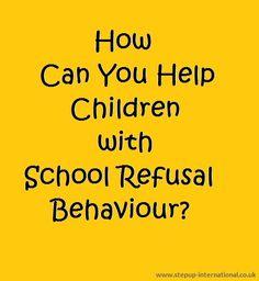 Children with school refusal Behaviour