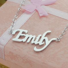 Sterling silver name necklace, nameplate necklace by BestNameplateJewelry, $18.99