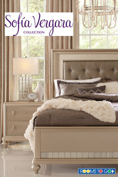 Sofia Vergara Paris Silver 5 Pc King Bedroom | Sofia vergara, King ...