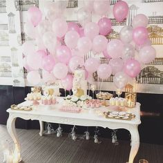 A very simple beautiful balloon Backdrop behind a table or for A photo booth. Balloon Backdrop, Balloon Decorations, Balloons, Baby Shower Parties, Baby Shower Themes, Baby Shower Decorations, 1st Birthday Parties, Girl Birthday, Candy Buffet Tables