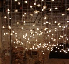 idea for fairy lighting in my beautiful old barn?
