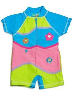 Make A Splash Swimwear - Toddler Girls Short Sleeve Rashguard