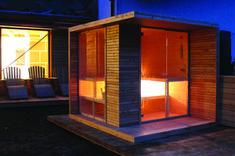 Sauna esterna in legno di larice Micro House, Tiny House, Outdoor Sauna, Outdoor Decor, Sauna Design, Finnish Sauna, Infrared Sauna, Boat Dock, Home Spa