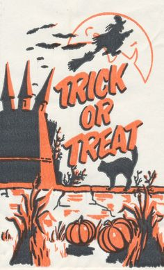 Vintage Mini Trick or Treat Bags | Atomic Redhead