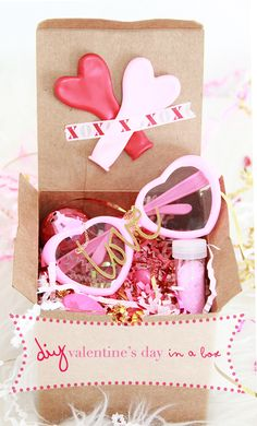 valentine's day in a box - such a fun idea!