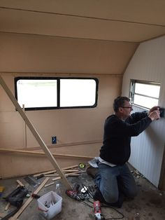 Work on the interior of my vintage camper affectionately named Beatrice has begun! Read about my journey as we renovate a 1969 Camp- Mor canned ham vintage camper. Vintage Camper Redo, Vintage Motorhome, Vintage Camper Interior, Trailer Interior, Vintage Rv, Vintage Travel Trailers, Vintage Campers, Vintage Caravans, Scotty Camper