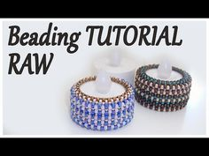 (7) Beads Tutorial - Beaded cover for a candle - RAW technique tutorial - Beading Right Angle Weave - YouTube