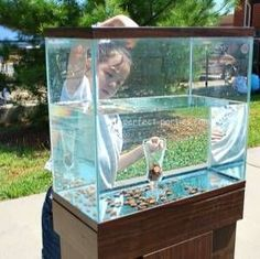 Fall fest idea: Penny Drop Inexpensive game using a fish tank, jar, water and . Fall fest idea: Penny Drop Inexpensive game using a fish tank, jar, water and …- Fall fest Carnival Games For Kids, Carnival Ideas, Halloween Carnival Games, Church Carnival Games, Carnival Party Games, Carnival Booths, Homemade Carnival Games, Carnival Mask, Carnival Makeup