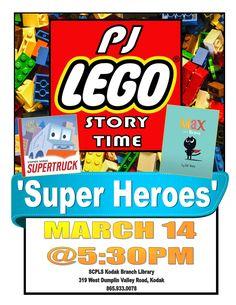 Superheroes PJ/Lego Story Time
