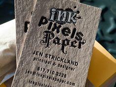 Ink Pixel Paper Letterpress By Jen Strickland