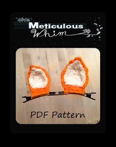 Cat Ears Crochet Pattern  Crochet Cat Ears PDF  by MetWhimDigital