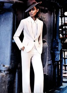 "Vogue Editorial, March 2013: To Rome with Love. Amazing wardrobe and editorial featuring Joan Smalls and Raquel Zimmermann for Vogue March 2013 titled; ""To Rome with Love"". The spread was photographed by Mario Testino. Love it. Enjoy…x Via: stylepantry.com"
