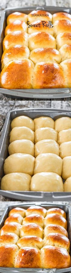 Delicious homemade Hawaiian sweet rolls, soft, fluffy and fresh from the oven. These Hawaiian sweet rolls have a tropical flavor perfect for breakfast, lunch or dinner.