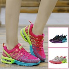 Newly Women Sports Shoes Bright Color Fitness Sneakers Comfy Casual Trainers
