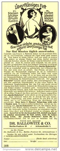Original-Werbung/ Anzeige 1926 - SASCHA FETT- REDUZIERER / DR. BALLOWITZ BERLIN -  ca. 70 x 210 mm