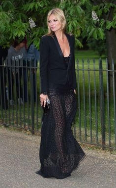 Kate Moss in an Alessandra Rich dress, Saint Laurent jacket Photo: Mike Marsland/Getty Images Vote for your favorite best dressed woman of t...