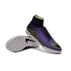lowest price b81ce 48219 Nike HypervenomX Proximo TF Hyper Grape Negro Current Púrpura baratos  zapatos de fútbol