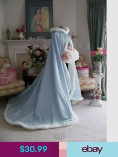 Wedding Theme Hot Bridal Winter Wedding Cloak Cape Hooded With Fur Trim Long Flower Girl Cloak - Winter Maternity Outfits, Winter Outfits Women, Winter Fashion Outfits, Winter Dresses, Dress Winter, Winter Outfits For Work, Winter Clothes, Winter Cloak, Winter Cape