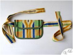 Etuis & Täschchen - HIP BAG MIT GÜRTEL ethno grün blau braun beige - ein Designerstück von VibeLich bei DaWanda