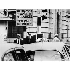 Signs of Apartheid What South Africans had to look at every day for four decades. 1967 A Taxi rank for white people. IMAGE: GETTY IMAGES (via New Africa, South Africa, Black Lives Matter Quotes, Coloured People, Apartheid, Japanese American, Black Books, White People, African History