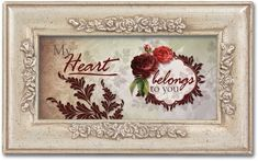 My Heart Belongs to You Love Red Roses Music Musical Jewelry Box Plays You Light Up My Life -- Continue to the product at the image link.