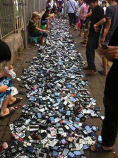 A Mobile Phone Sale in a Chinese Market.
