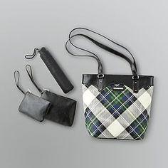 Jaclyn Smith -Plaid Supertote Shoulder Bag