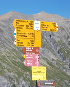 Adelboden - hiking trails marked in the time it takes to make the trip. Got to be in good shape to do it in the time posted.