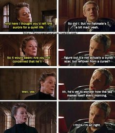 Potterlock AU John was wounded as an Auror, not in Afghanistan. He gets away with a bit of magic in the flat, because Sherlock doesn't pay much attention to domestic things.