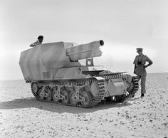 An abandoned German Sd.Kfz. 135/1, a 15 cm self-propelled howitzer on french Lorraine chassis, in North Africa in September 1942.