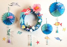 Diy And Crafts, Crafts For Kids, New Years Decorations, Lunar New, Name Cards, Origami Paper, Summer Wreath, Preschool Activities, Wreaths