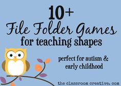 file folder games teaching shapes for autism and early childhood