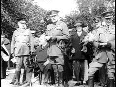 Earl Haig unveils Cameronians regimental memorial at Kelvingrove Museum, Glasgow.