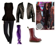 """""""Jade West- Nickelodeon's Victorious- Brain Squeezers"""" by brainyxbat ❤ liked on Polyvore featuring rag & bone/JEAN, River Island and Dr. Martens"""