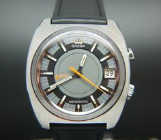 The Omega Memomatic Circa 1970 with leather strap has such a timeless contemporary design makes it difficult to believe this is a vintage watch!