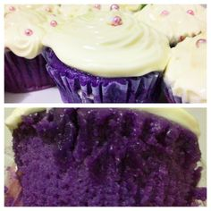 Moist ube cupcakes filled with ube jam! Sooo yummy, best cupcake ever! Love ube!❤