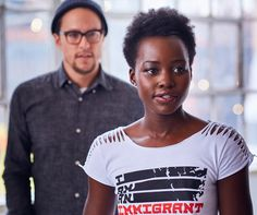 """"""" Director Cary Fukunaga with Lupita Nyong'o - """"I Am Immigrant"""" Campaign """""""