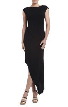 Jenifer Asymmetrical Boatneck Dress | BCBG