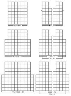 diagramy ubrań z kwadratów szydełkowych, granny square clothes diagrams, wzory, inspiracje