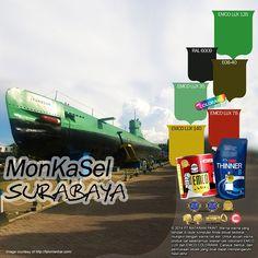 MonKaSel (Monumen Kapal Selam) Surabaya #monument #of #surabaya #likeforlike http://matarampaint.com/detailNews.php?n=426