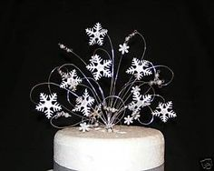 Snowflake Winter Wedding Cake Topper Decoration | eBay