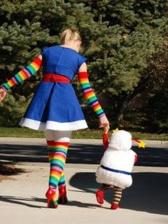Rainbow bright costume