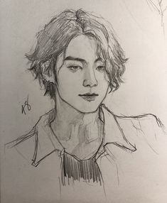 """""""A tribute to jungkook's long hair. May it rest in peace. Fanart Bts, Jungkook Fanart, Bts Jungkook, Kpop Drawings, Art Drawings Sketches, Inspiration Art, Art Inspo, Tribute, Surreal Art"""