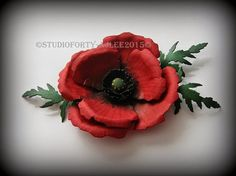 spellbinders flower dies - Google-søgning - pinning from the site itself is not allowed so go to the site to see tutorial - looks like a spellbinder die  - red Poppy....a type closely associated to the remembrance of soldiers who have lost lives since World War 1.  http://thesixinchsquare.blogspot.dk/2015/04/spellbinders-die-d-lites-poppy-paper.html