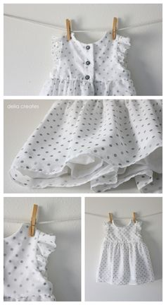 geranium dress with chiffon overlay | delia creates  {note: bullet points especially skirt finishing}